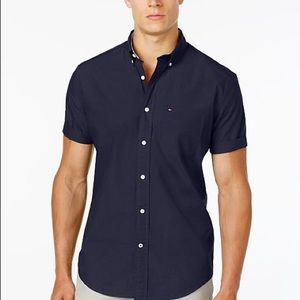 Tommy Hilfiger Short Slv Button Down Classic Fit